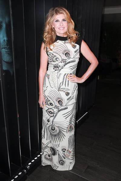 Connie Britton Print Dress [anthology series,dirty john,clothing,dress,fashion,fashion model,lady,blond,shoulder,fashion design,leg,long hair,connie britton,neuehouse los angeles,california,bravo,party,dirty john world premiere event,party,world premiere]