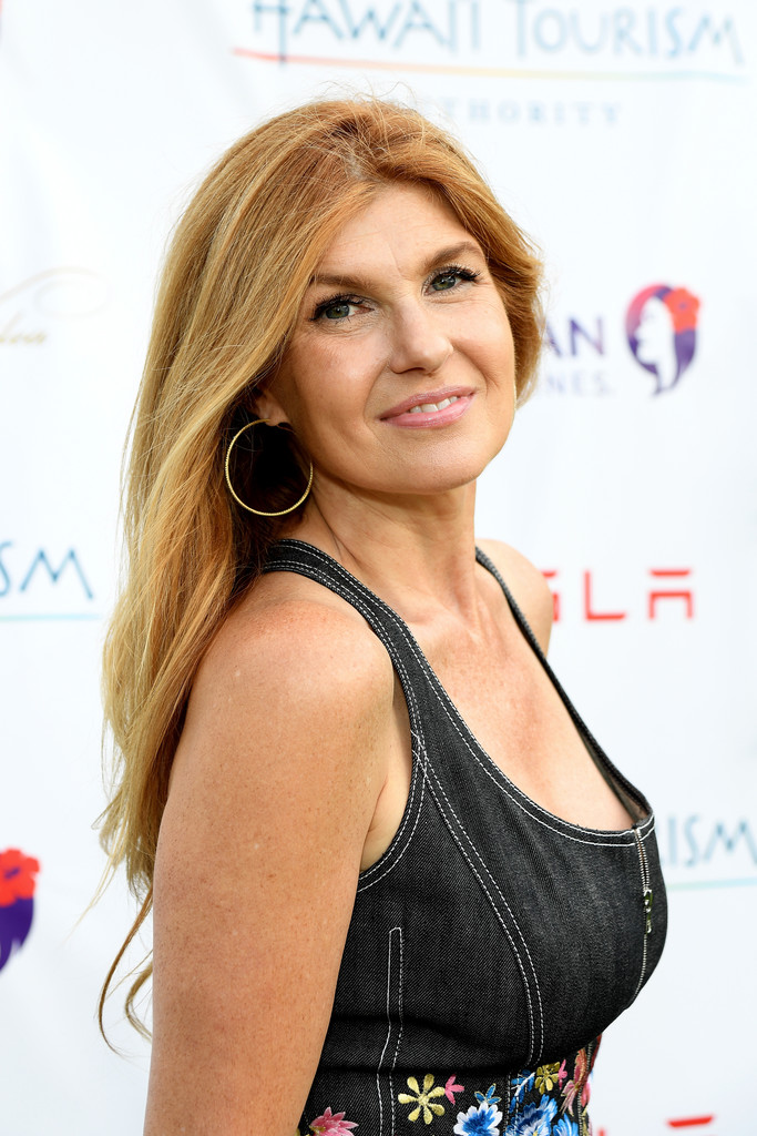 Connie Britton Long Center Part Hair Lookbook Stylebistro
