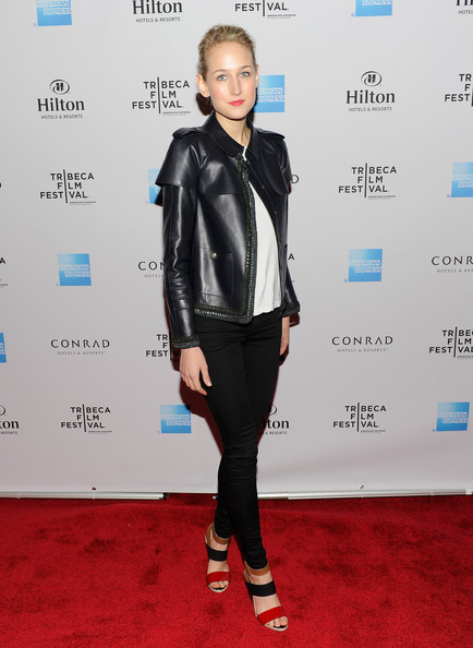 More Pics of Leelee Sobieski Leather Jacket (1 of 5) - Leelee Sobieski Lookbook - StyleBistro
