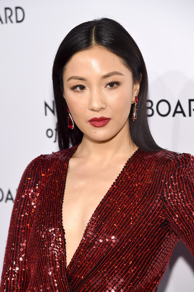 Constance Wu Dangling Gemstone Earrings [hair,lip,hairstyle,beauty,fashion model,eyebrow,fashion,long hair,black hair,premiere,arrivals,constance wu,new york city,cipriani 42nd street,national board of review annual awards gala,national board of review annual awards gala]