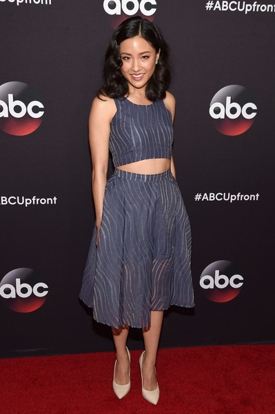 Constance Wu Full Skirt [constance wu,flooring,shoulder,fashion model,carpet,dress,fashion,cocktail dress,red carpet,joint,little black dress,avery fisher hall,lincoln center,new york city,abc]
