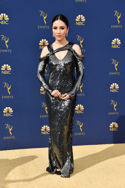 Constance Wu Sequin Dress