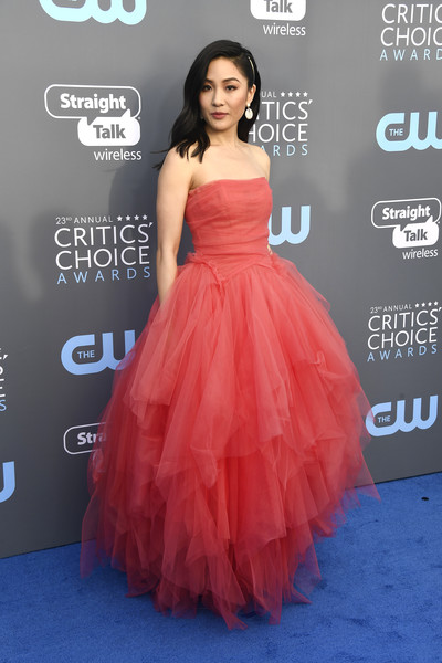 Constance Wu Strapless Dress