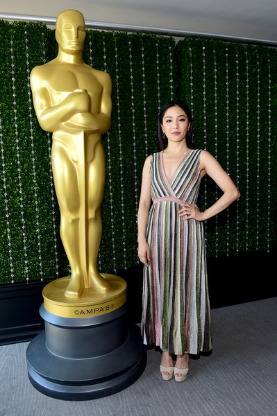 Constance Wu Platform Sandals [sculpture,figurine,statue,standing,classical sculpture,toy,art,muscle,trophy,monument,constance wu,swarovski,support,support,partnership,new york city,academy of motion picture arts sciences womens initiative new york luncheon,e entertainment,academy of motion picture arts sciences womens initiative new york,luncheon]