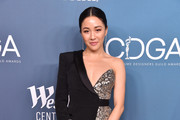 Constance Wu Metallic Clutch