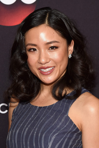 Constance Wu Medium Curls [constance wu,hair,hairstyle,eyebrow,black hair,chin,forehead,beauty,lip,long hair,smile,avery fisher hall,lincoln center,new york city,abc]