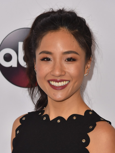 Constance Wu Loose Ponytail
