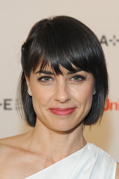 Constance Zimmer Bob [hair,face,hairstyle,eyebrow,chin,bangs,lip,forehead,head,black hair,constance zimmer,unreal,new york city,international press event,press event]