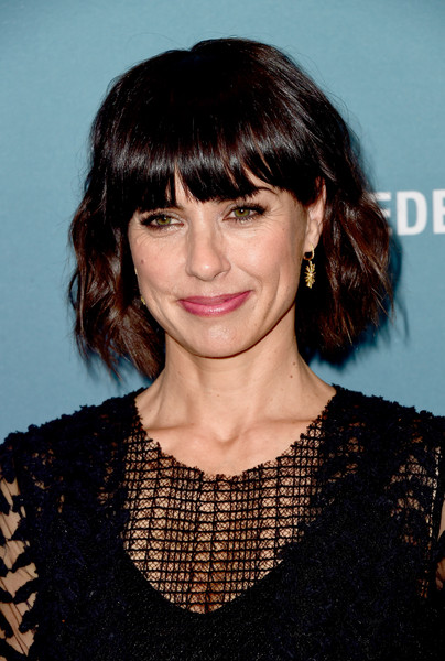 Constance Zimmer Short Wavy Cut [hair,hairstyle,face,bangs,eyebrow,chin,lip,brown hair,layered hair,black hair,power of women luncheon,variety,beverly hills,california,beverly wilshire four seasons hotel,constance zimmer]