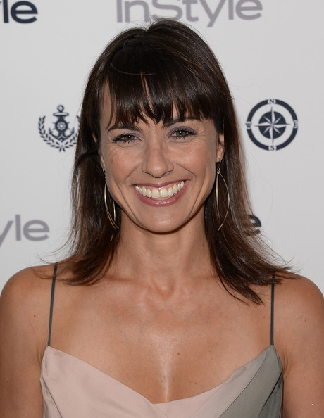 Constance Zimmer Medium Straight Cut with Bangs