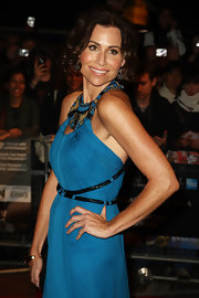 Minnie Driver showed off her pinned up curls on the red carpet at the premiere of 'Conviction'.