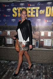 Jennifer Ellison was looking mighty trendy in this fabulous leather jacket.