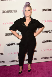 Kelly Osbourne looked cool on the pink carpet in her moto-chic jumpsuit during Cosmopolitan's 50th birthday celebration.