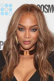Tyra Banks looked lovely with her face-framing waves at the Cosmopolitan Fun Fearless Money 2016.