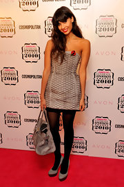 This strapless mini dress showed off Jameela's lovely long limbs to full effect at the 2010 Cosmopolitan Ultimate Women of The Year Awards in London.