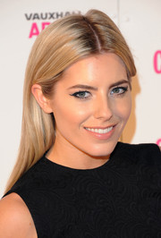 Mollie King looked fabulously retro with her winged eyes.