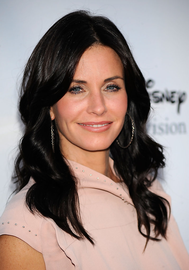 Courteney Cox Long Curls Hair Looks