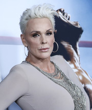 Brigitte Nielsen rocked a silver fauxhawk at the New York premiere of 'Creed II.'