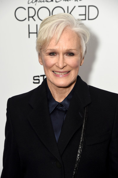 Glenn Close attended the New York premiere of 'Crooked House' wearing a mildly messy 'do.