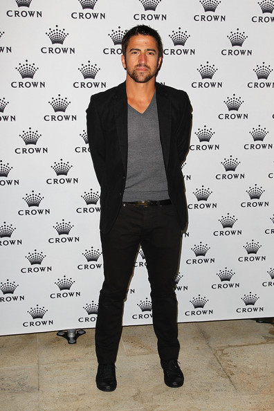 Janko Tipsarevic sported black lace-up shoes at the Crown's IMG Tennis Player's Party.