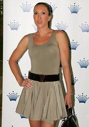 Jelena Jankovic attended the Crown's Players' Party wearing what looked like a glamorized tan tennis dress.