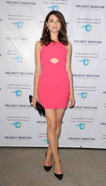 Crystal Reed Cutout Dress