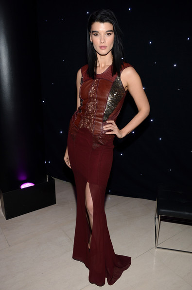 Crystal Renn Evening Dress [barneys new york,disney electric holiday window unveiling,fashion model,clothing,dress,fashion,shoulder,beauty,gown,thigh,leg,haute couture,new york city,sarah jessica parker,bob iger,mark lee - inside,crystal renn,mark lee]