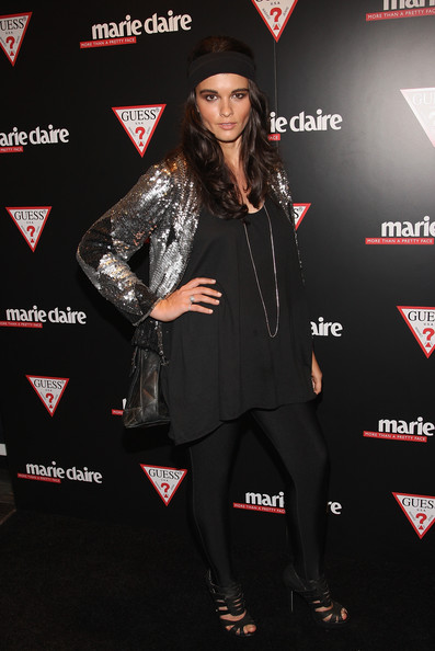 Crystal Renn Loose Blouse [clothing,premiere,outerwear,carpet,footwear,event,flooring,performance,jacket,leather,marie claire,crystal renn,guess flagship,red carpet,guess flagship boutique,new york city,guess,red carpet,marie claire host opening,opening]