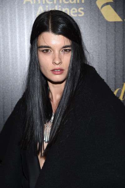 Crystal Renn Half Up Half Down [the hollywood reporter,hair,face,lip,eyebrow,hairstyle,black hair,beauty,fashion,long hair,chin,crystal renn,people,media - arrivals,new york media,new york,hollywood reporter]
