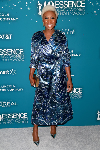 Cynthia Erivo Wrap Dress