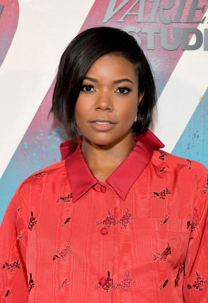 More Pics of Gabrielle Union Leather Lace-ups (1 of 3) - Gabrielle Union Lookbook - StyleBistro [hair,face,hairstyle,pink,lip,forehead,black hair,long hair,smile,premiere,gabrielle union,momofuku toronto,canada,directv house,at t,directv,toronto international film festival]