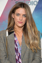 Riley Keough opted for a casual center-parted 'do when she visited DIRECTV House.