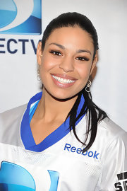 Jordin Sparks wore a shimmering nude lipstick at the 6th Annual Celebrity Beach Bowl.