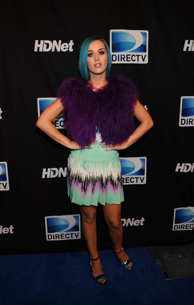 More Pics of Katy Perry Print Dress (2 of 14) - Katy Perry Lookbook - StyleBistro [clothing,blue,electric blue,fashion,carpet,dress,flooring,event,red carpet,fur,super,mark cuban,peyton manning,katy perry,indianapolis,indiana,directv,hdnet,sixth annual celebrity beach bowl,party]