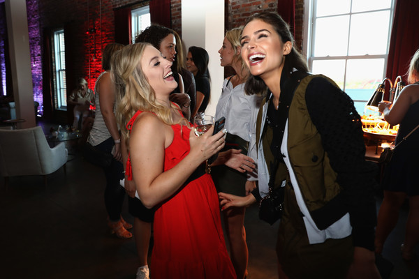 More Pics of Olivia Culpo Ankle Boots (4 of 22) - Olivia Culpo Lookbook - StyleBistro [red,event,fashion,fun,dress,formal wear,party,suit,ceremony,restaurant,rachel martino,olivia culpo,nashville,tennessee,dsw,elle happy hour,acme feed seed,marchon usa tour,event,event]