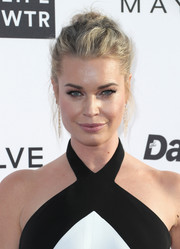 Rebecca Romijn worked a messy-glam updo at the Fashion Los Angeles Awards.