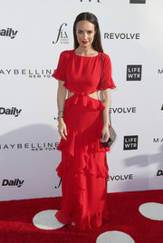This red number Catt Sadler wore to the Fashion Los Angeles Awards was an ultra-girly way to rock the cutout trend!