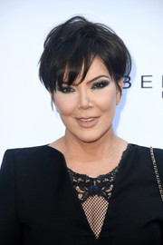 Kris Jenner went bold and edgy with a super-smoky eye.