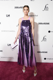 Whitney Port brought major sparkle to the 2018 Fashion Media Awards with this lavender sequin dress by Tibi.