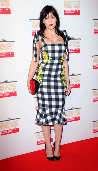 Daisy Lowe Print Dress [clothing,fashion model,plaid,dress,tartan,carpet,cocktail dress,shoulder,pattern,fashion,red carpet arrivals,daisy lowe,aid,the roundhouse,england,london,worlds first fabulous fund fair in aid of the naked heart foundation,the naked heart foundation,the worlds first fabulous fund fair]