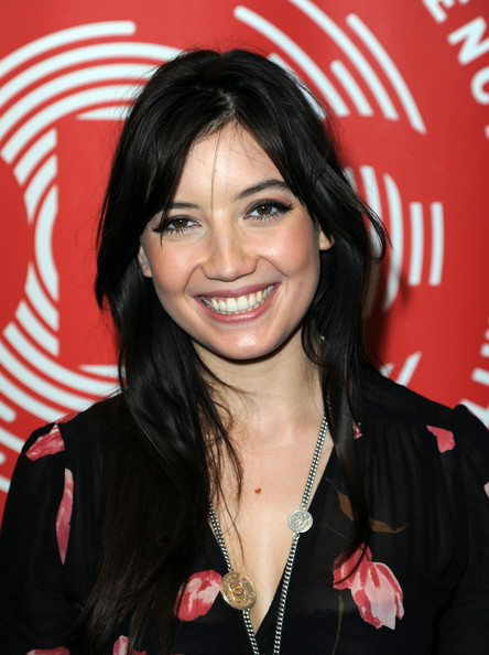 Daisy Lowe Long Straight Cut with Bangs [hair,hairstyle,black hair,long hair,layered hair,brown hair,feathered hair,smile,bangs,daisy lowe,dec philippines typhoon appeal,money,london,england,fundraising telethon]