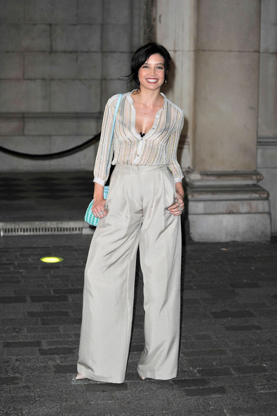 Daisy Lowe Wide Leg Pants [clothing,fashion model,fashion,street fashion,fashion design,haute couture,pantsuit,dress,fashion show,formal wear,daisy lowe,london,england,royal academy of arts,royal academy summer exhibition preview party]