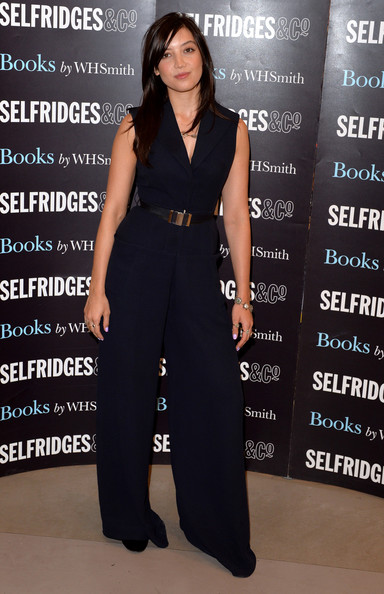 Daisy Lowe Jumpsuit [recipe book,clothing,dress,fashion,suit,pantsuit,neck,fashion model,formal wear,carpet,waist,copies,sweetness light,daisy lowe,fans,signs,england,london,selfridges,book signing]