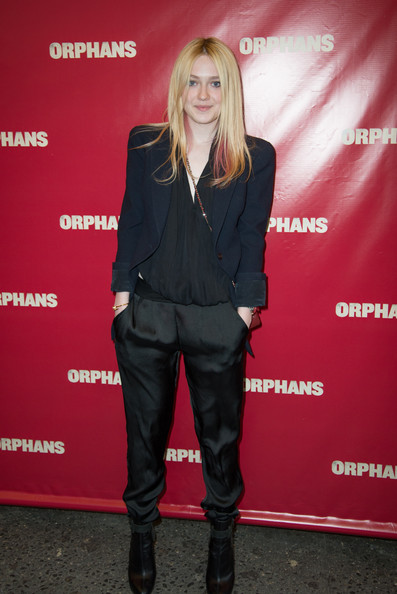 Dakota Fanning Silk Pants