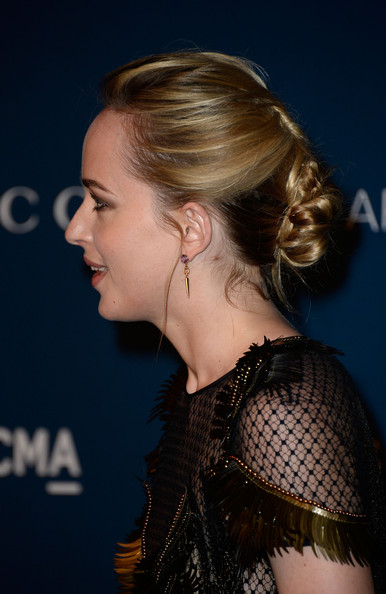 Dakota Johnson Chignon