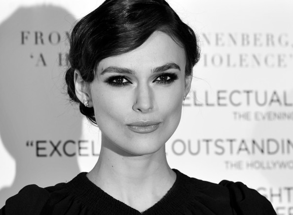 More Pics of Keira Knightley Loose Bun (1 of 34) - Loose Bun Lookbook - StyleBistro