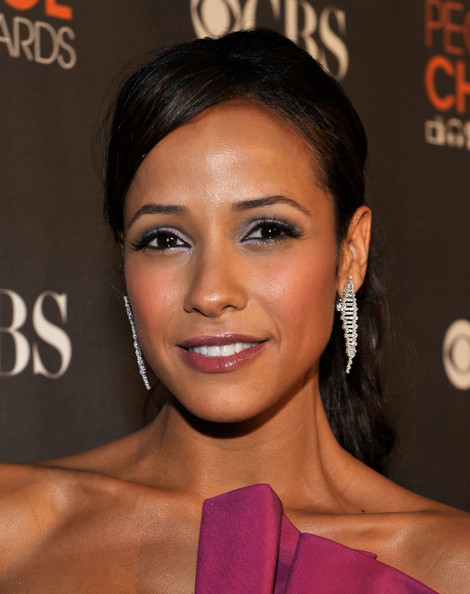 Dania Ramirez Dangling Diamond Earrings