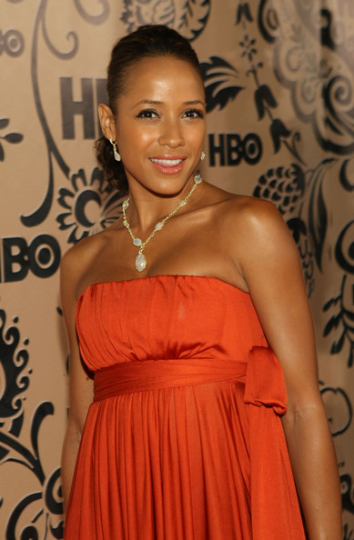 Dania Ramirez Gold Link Necklace