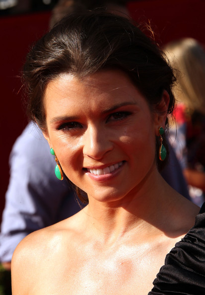 Danica Patrick Gold Dangle Earrings