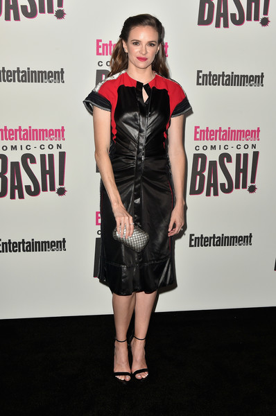 Danielle Panabaker Leather Dress